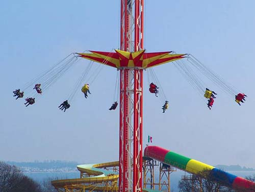 large amusement park rides